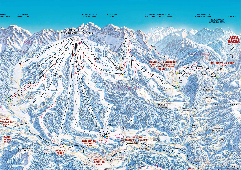 Mappa Impianti E Cartina Delle Piste Skirama Plan De