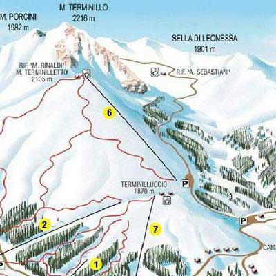 Mappa Impianti E Cartina Delle Piste Skirama Terminillo