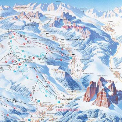Mappa impianti e cartina delle piste. Skirama Civetta Alleghe d2a7e82735de