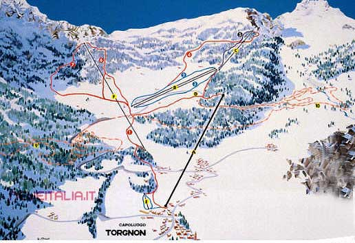 cartina piste Torgnon