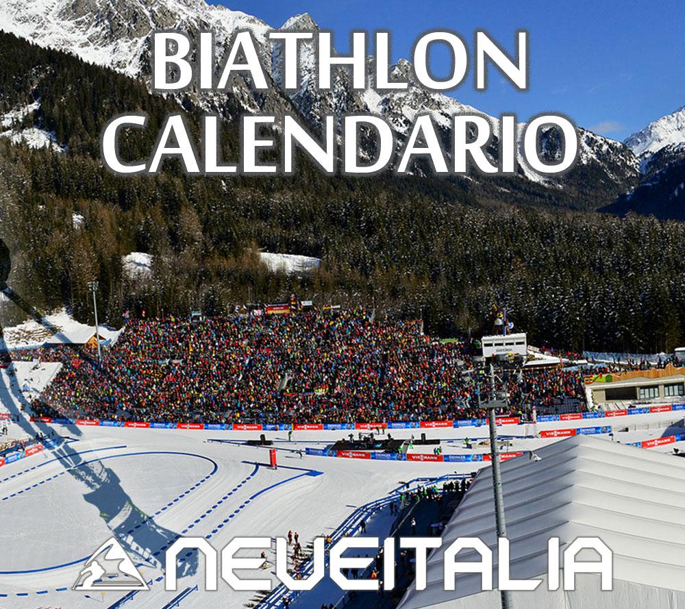 Calendario Biathlon.Calendario Coppa Del Mondo Biathlon 2019 2020